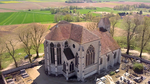 Church Saint Martin, Butte de Doue, France
